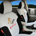 FORTUNE Comets Autos Car Seat Covers for Honda Civic EX Coupe - Gray