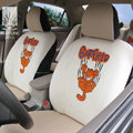 FORTUNE Garfield Autos Car Seat Covers for Honda Civic DX Coupe - Apricot