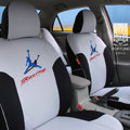 FORTUNE Racing Autos Car Seat Covers for Honda Civic Hatchback - Gray