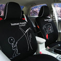 FORTUNE Human Touch Heart Window Autos Car Seat Covers for 2011 Honda Insight Hatchback - Black
