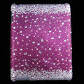 Bling Crystal Cases Diamond Rhinestone Hard Covers for iPad 2 / The New iPad - Purple