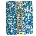 Bling Swarovski covers diamond crystal hard cases for iPad 2 / The New iPad - Blue