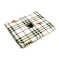 Burberry Leather Cases Hard Skin Covers for iPad 2 / The New iPad - White