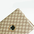 Gucci Leather Cases Hard Skin Covers for iPad 2 / The New iPad - Brown