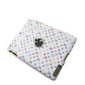 LV Louis Vuitton Leather Cases Hard Covers for iPad 2 / The New iPad - White
