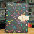 LV Louis Vuitton Smart Cover Wake Sleep Leather Case for iPad 2 / The New iPad - Black