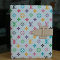 LV Louis Vuitton Smart Cover Wake Sleep Leather Case for iPad 2 / The New iPad - White