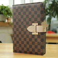 Louis Vuitton LV Smart Cover Wake Sleep Leather Cases for iPad 2 / The New iPad - Brown