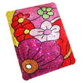 Luxry Bling covers Flower diamond crystal hard cases for iPad 2 / The New iPad - Red