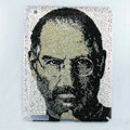 Luxry Bling covers Steve Jobs Portrait diamond crystal hard cases for iPad 2 / The New iPad - White