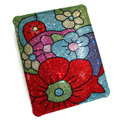 Swarovski Bling Flower covers diamond crystal hard cases for iPad 2 / The New iPad - Red