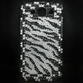 Zebra Bling Crystal Cover Diamond Rhinestone Cases For Samsung Galaxy S III 3 i9300 I9308 - Black