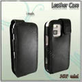 IMAK Colorful leather Cases Holster Covers for Nokia N97 mini - Black