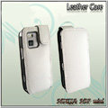 IMAK Colorful leather Cases Holster Covers for Nokia N97 mini - White