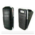 IMAK Flip Crocodile leather Cases Luxury Holster Covers for Nokia E72 - Black