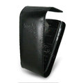 IMAK Flip leather Cases Holster Covers for Nokia E72 - Black