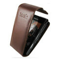 IMAK Flip leather Cases Holster Covers for Sony Ericsson Satio U1 Idou - Coffee