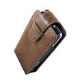 IMAK Flip leather Cases Holster Covers for Sony Ericsson Xperia X1 - Brown