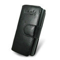 IMAK Side Flip leather Cases Holster Covers for Nokia X6 - Black