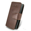 IMAK Side Flip leather Cases Holster Covers for Nokia X6 - Coffee