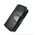 IMAK Side Flip leather Cases Holster Covers for Sony Ericsson Aino U10i - Black