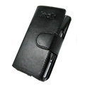 IMAK Side Flip leather Cases Holster Covers for Sony Ericsson Satio U1 Idou - Black
