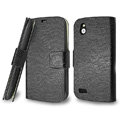 IMAK Slim leather Cases Luxury Holster Covers for HTC T328W Desire V - Black