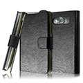 IMAK Slim leather Cases Luxury Holster Covers for HTC T9199 - Black