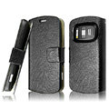 IMAK Slim leather Cases Luxury Holster Covers for Nokia 808 PureView - Black