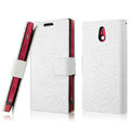 IMAK Slim leather Cases Luxury Holster Covers for Sony Ericsson LT22i Xperia P - White