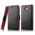IMAK Slim leather Cases Luxury Holster Covers for Sony Ericsson MT27i Xperia sola - Black