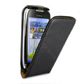 IMAK leather Cases Simple Holster Covers for Nokia C7 - Black