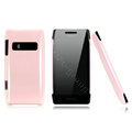 Nillkin Colorful Hard Cases Skin Covers for Nokia X7 X7-00 - Pink (High transparent screen protector)