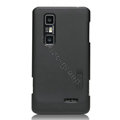 Nillkin Super Matte Hard Cases Skin Covers for LG P725 Optimus 3D MAX - Black (High transparent screen protector)