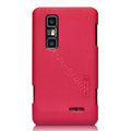 Nillkin Super Matte Hard Cases Skin Covers for LG P725 Optimus 3D MAX - Red (High transparent screen protector)