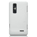 Nillkin Super Matte Hard Cases Skin Covers for LG P725 Optimus 3D MAX - White (High transparent screen protector)