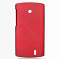 Nillkin Super Matte Hard Cases Skin Covers for Lenovo A68E - Red (High transparent screen protector)