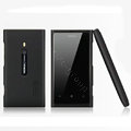 Nillkin Super Matte Hard Cases Skin Covers for Nokia Lumia 800 800c - Black (High transparent screen protector)