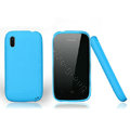 Nillkin Super Matte Rainbow Cases Skin Covers for Lenovo A390e - Blue (High transparent screen protector)