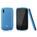 Nillkin Super Matte Rainbow Cases Skin Covers for Lenovo A390e - Sky Blue (High transparent screen protector)