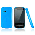 Nillkin Super Matte Rainbow Cases Skin Covers for Lenovo A60 - Sky Blue (High transparent screen protector)