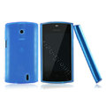 Nillkin Super Matte Rainbow Cases Skin Covers for Lenovo A68E - Blue (High transparent screen protector)