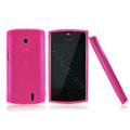 Nillkin Super Matte Rainbow Cases Skin Covers for Lenovo A68E - Pink (High transparent screen protector)
