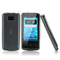Nillkin Super Matte Rainbow Cases Skin Covers for Nokia 700 - Gray (High transparent screen protector)