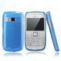 Nillkin Super Matte Rainbow Cases Skin Covers for Nokia E6 - Blue (High transparent screen protector)