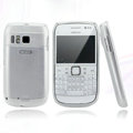 Nillkin Super Matte Rainbow Cases Skin Covers for Nokia E6 - White (High transparent screen protector)