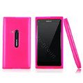 Nillkin Super Matte Rainbow Cases Skin Covers for Nokia N9 - Pink (High transparent screen protector)