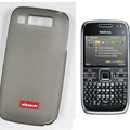 Nillkin Transparent Matte Soft Cases Covers for Nokia E72 - Black (High transparent screen protector)