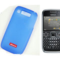 Nillkin Transparent Matte Soft Cases Covers for Nokia E72 - Blue (High transparent screen protector)
