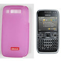 Nillkin Transparent Matte Soft Cases Covers for Nokia E72 - Pink (High transparent screen protector)